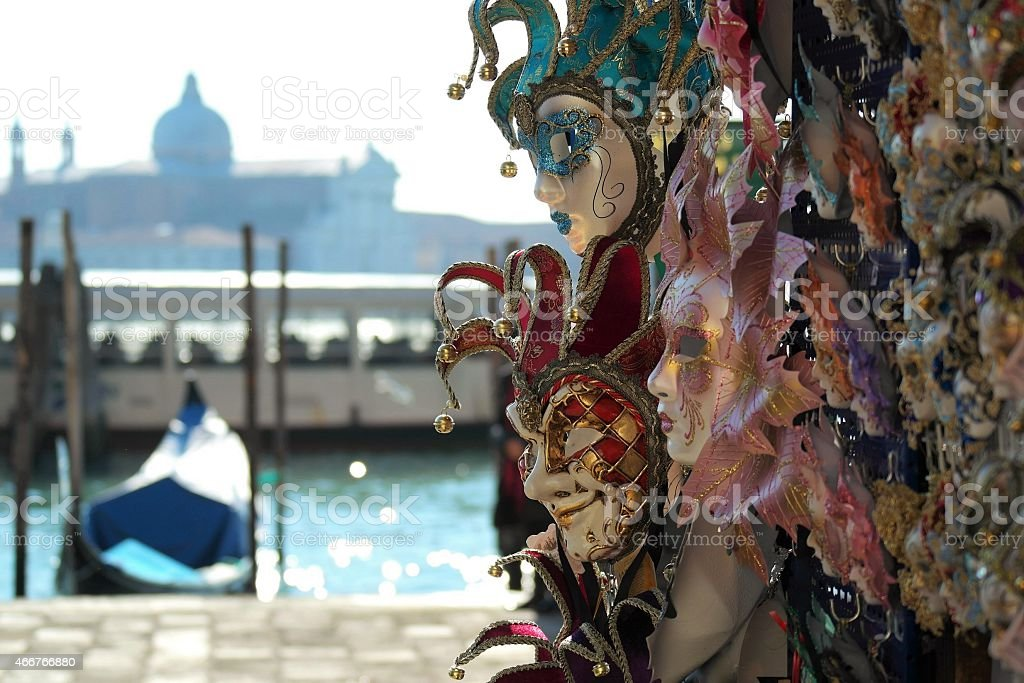 Carnival Mask in San Marco Venice stock photo