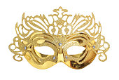 Beautiful carnival mask on a white background