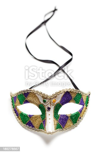 Carnival mask on white background