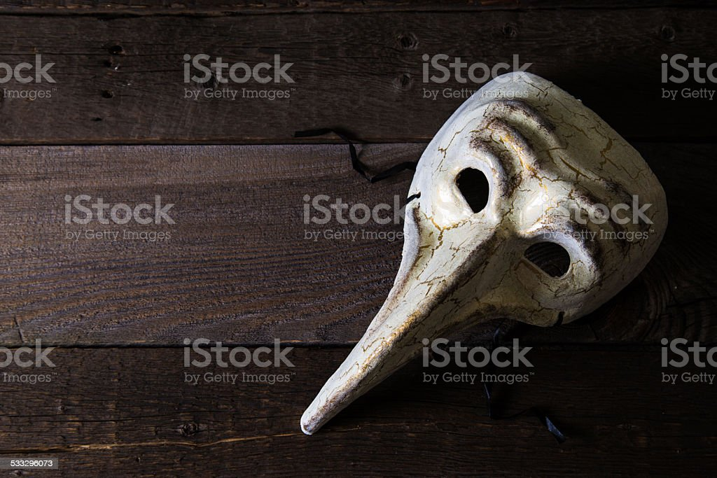 Carnival mask plague doctor stock photo
