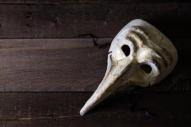 Maschera di carnevale bubbonica medico - foto stock