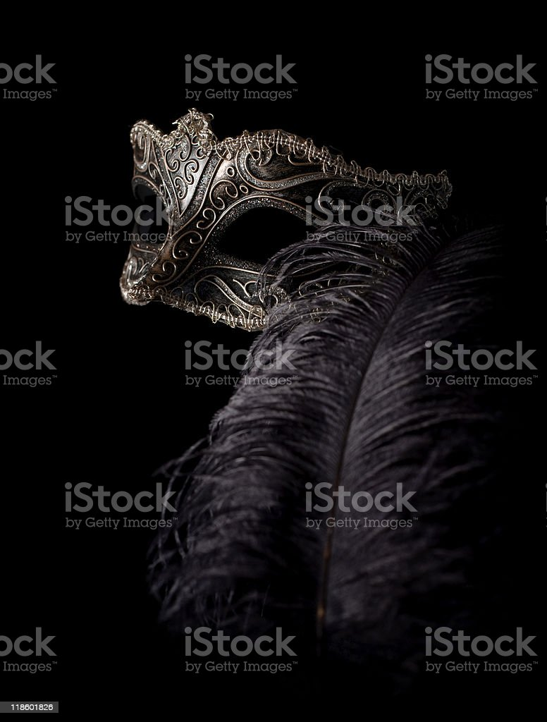 carnival mask with feather royalty-free stock photo