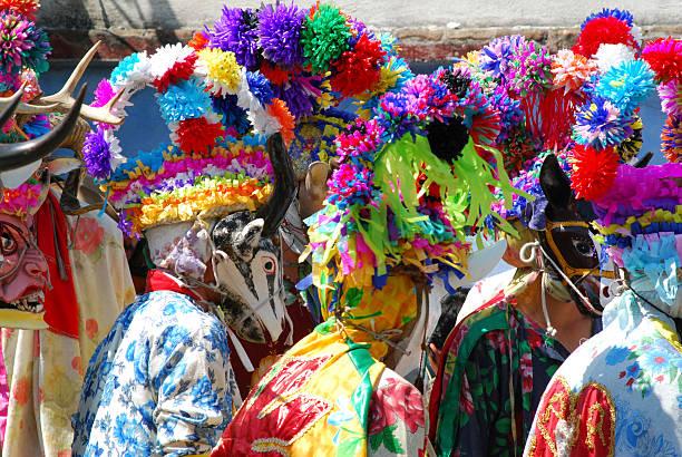 Carnival masks in Mexico Carnival in Tio Diego, Veracruz Mexico veracruz stock pictures, royalty-free photos & images