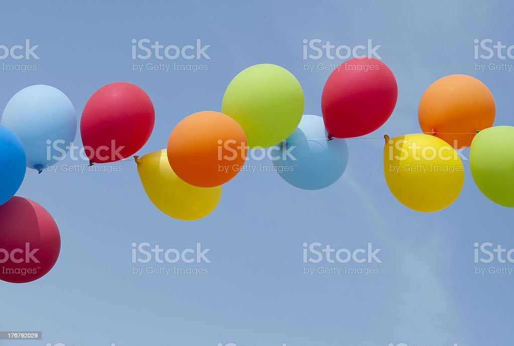 carnival multi colored balloons royalty-free stock photo