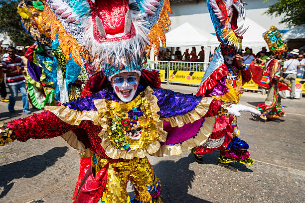 Carnival of Barranquilla, in Colombia. stock photo