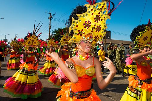 Photo libre de droit de Carnaval De Barranquilla En Colombie ...