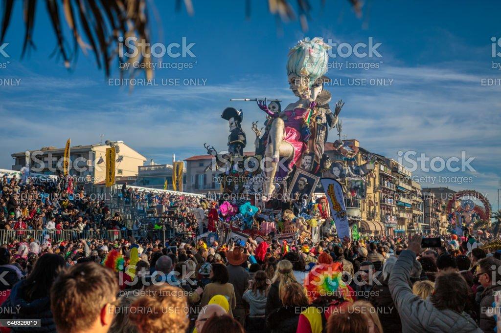 Carnival of Vareggio stock photo