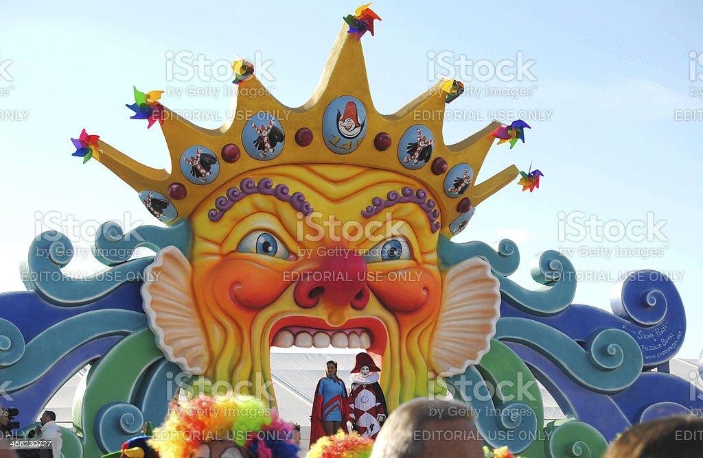 Carnival of Viareggio, main stage stock photo