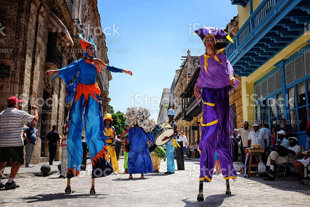 Carnival on the Obispo street in Old Havana Cuba stock photo