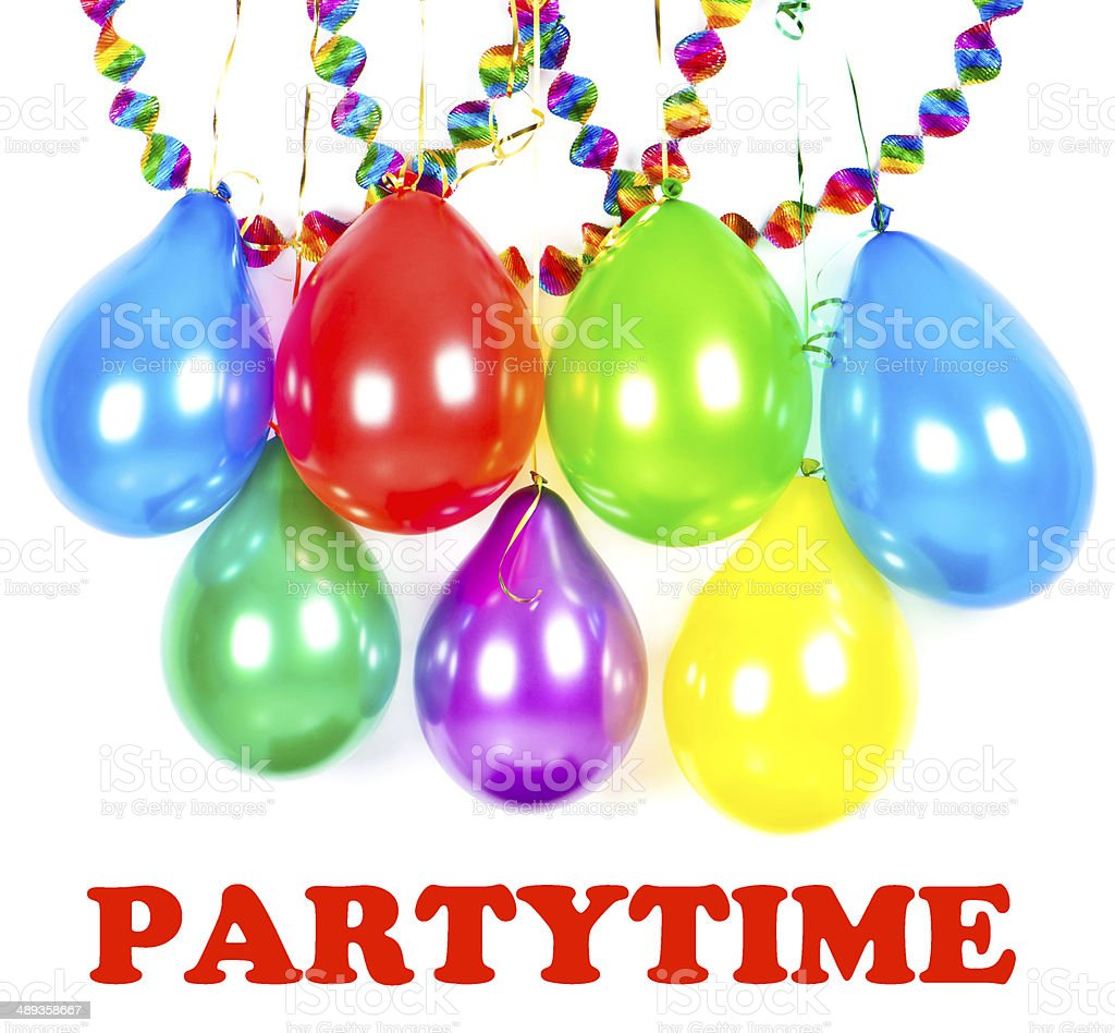 carnival or birthday party decoration stock photo