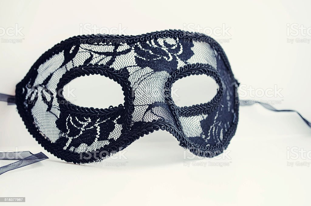 carnival or theater mask isolated on white background stock photo