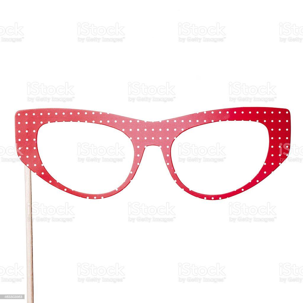 Carnival Paper Red Eyeglasses stock photo