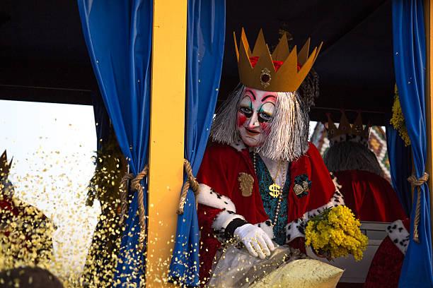 carnival parade in basel, switzerland - fasnacht stock-fotos und bilder