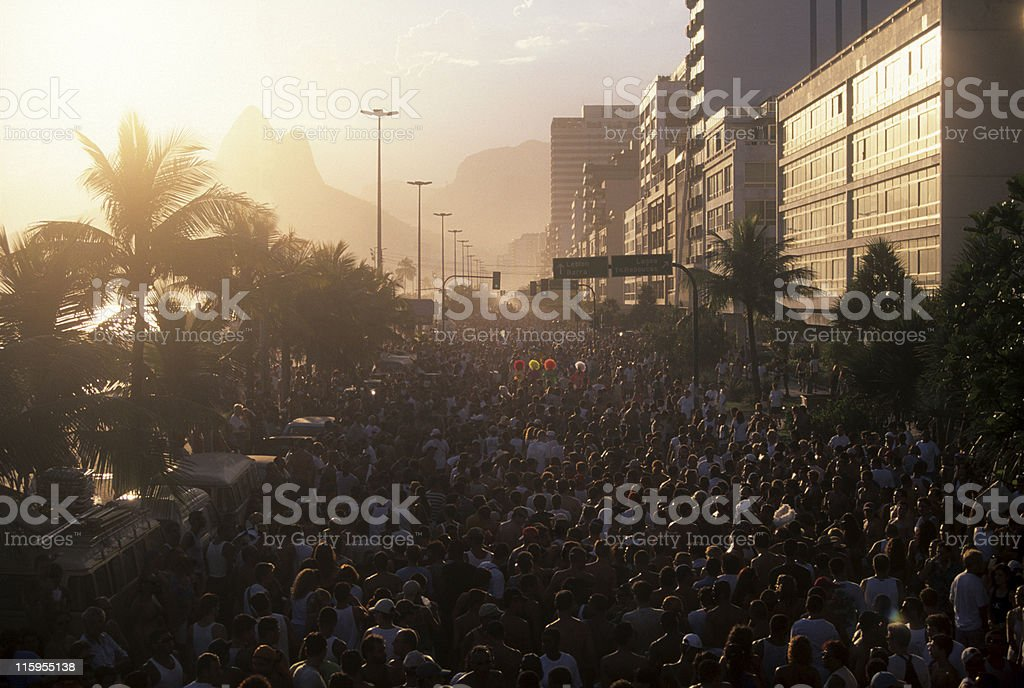 Carnival Parade in Ipanema Beach royalty-free stock photo