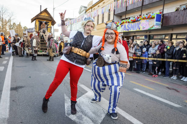 Carnival parade in Velika Gorica stock photo
