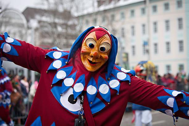 carnival party in freiburg, deutschland 2013 - fasnacht stock-fotos und bilder
