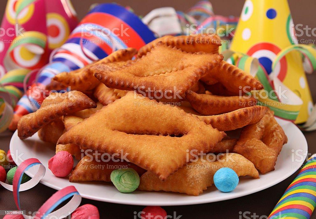 carnival pastry stock photo