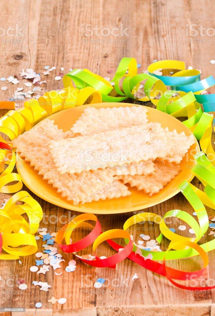 Carnival pastry. stock photo