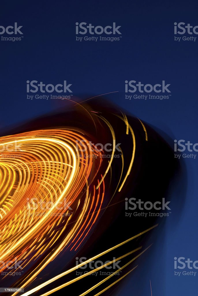 Carnival ride at high speed stock photo