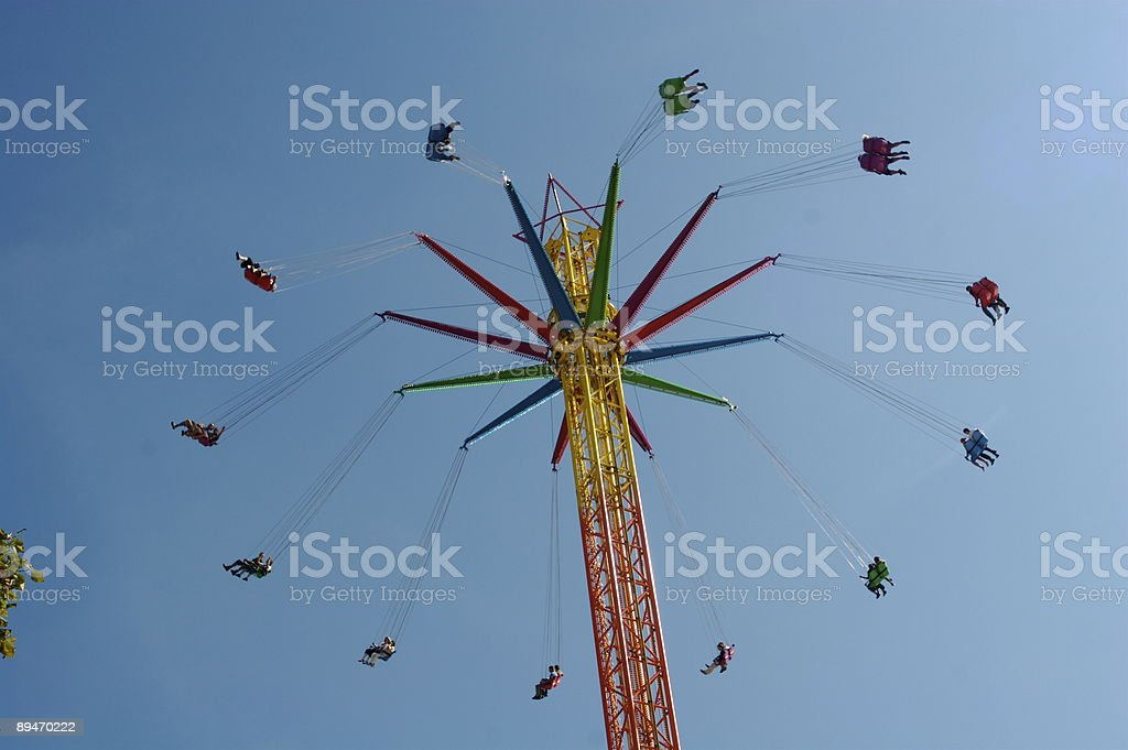 Carnival Ride at Octoberfest, Munich Germany royalty-free stock photo