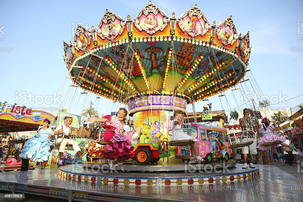 Carnival Ride in Andalusian Fair stock photo
