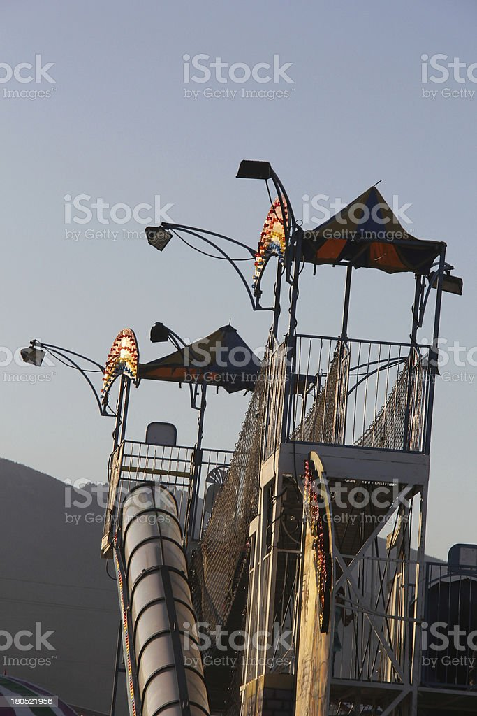 Carnival Ride - Slide royalty-free stock photo