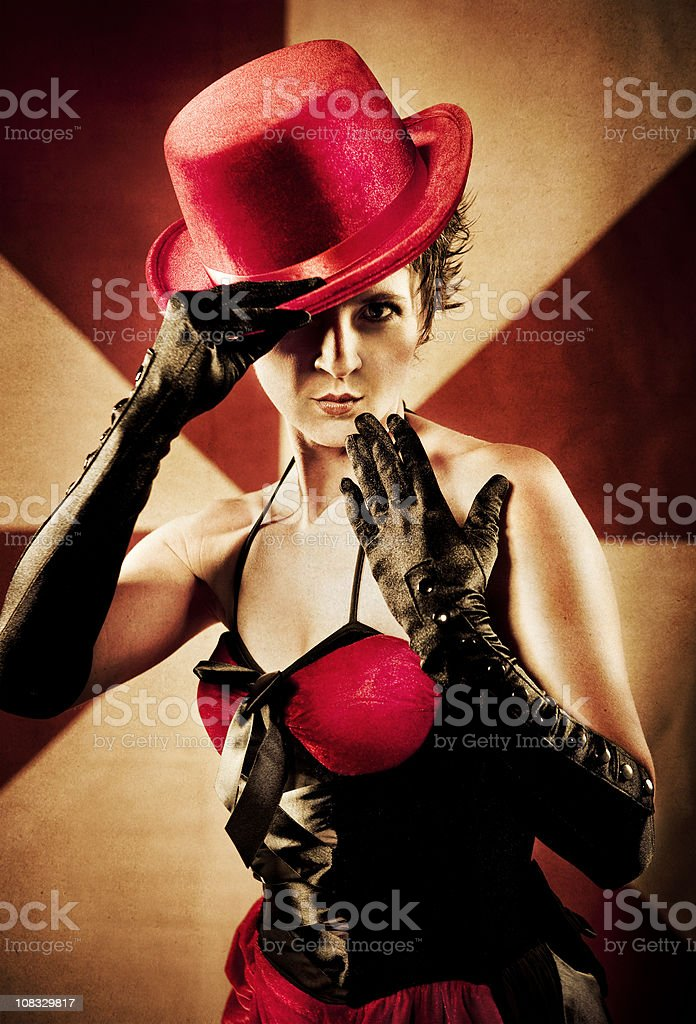 Carnival Series: Show Girl royalty-free stock photo