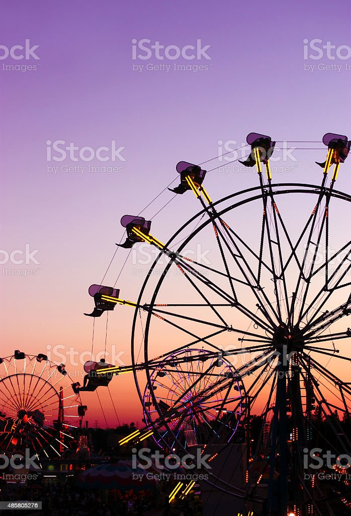 Carnival Silhouettes stock photo