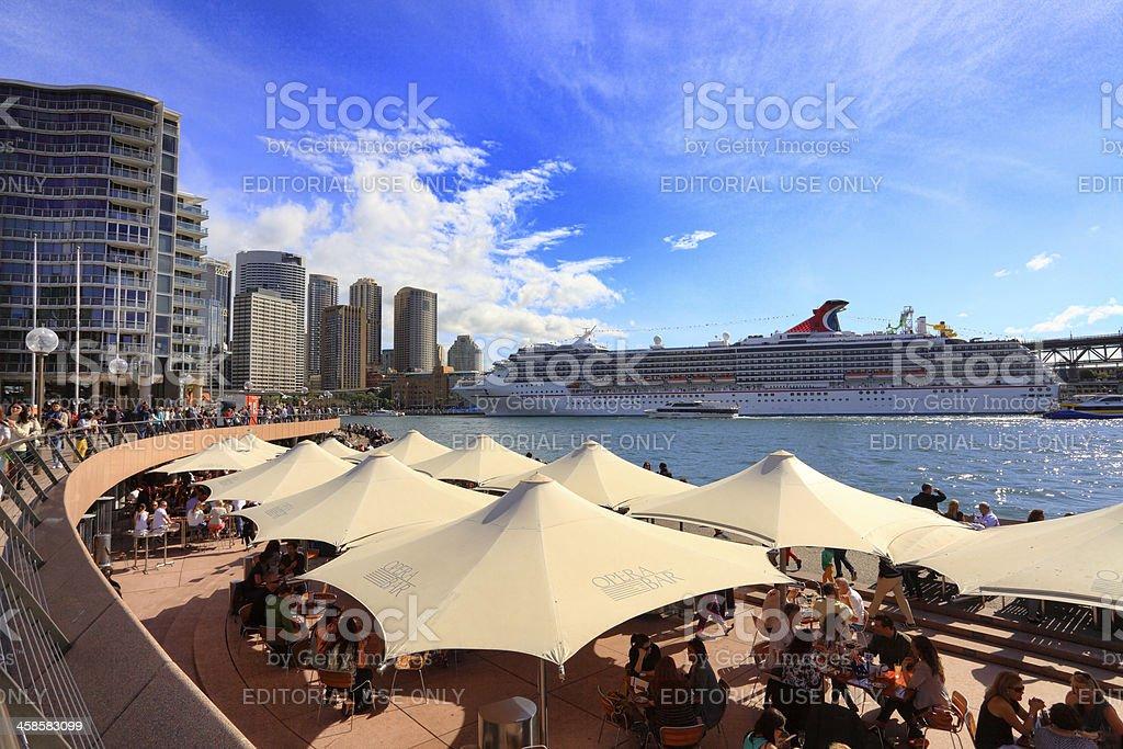 Carnival Spirit docked at Circular Quay, Sydney royalty-free stock photo