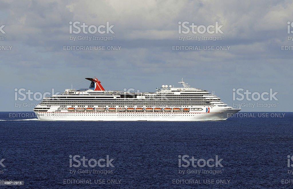Carnival Splendor cruise ship stock photo