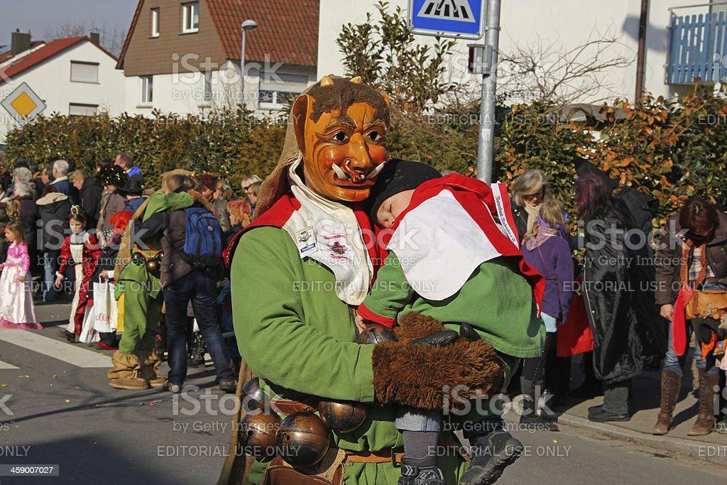 Carnival streets parade. stock photo