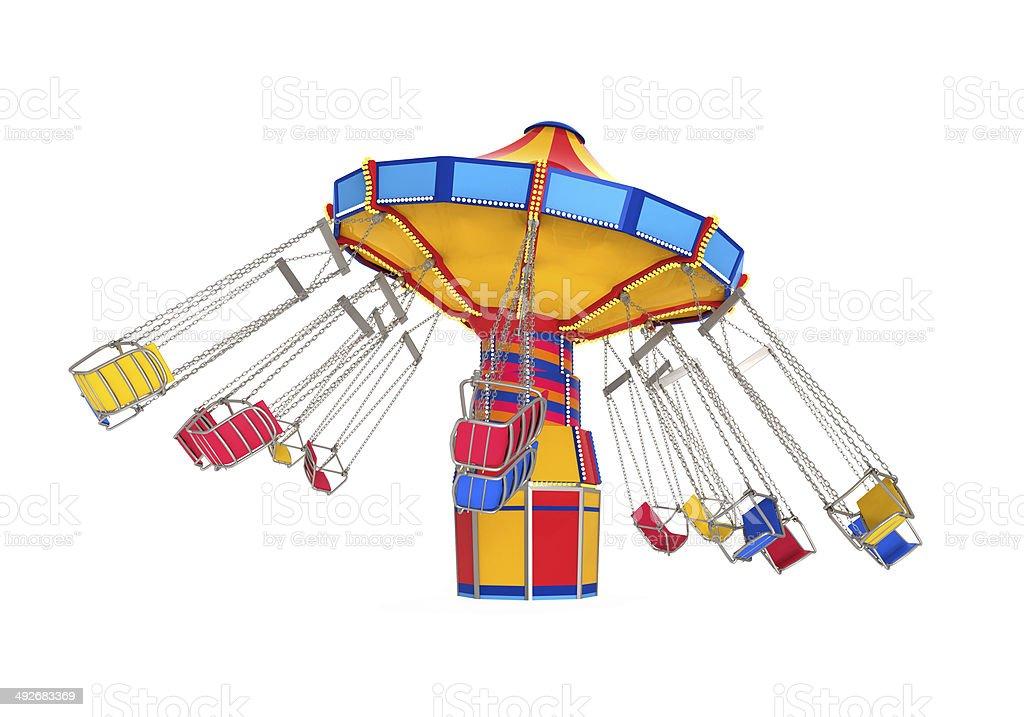 Carnival Swing Ride stock photo