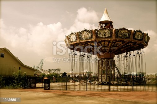 Abandoned amusement park in New Orleans once 15ft under water