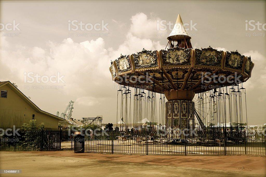 Carnival swings stock photo