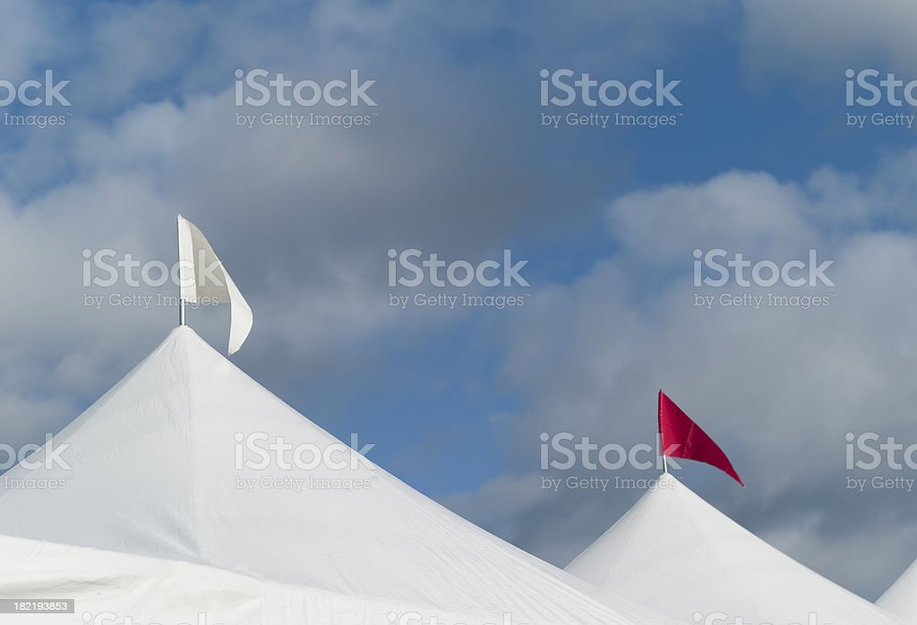 Carnival Tent Tops royalty-free stock photo