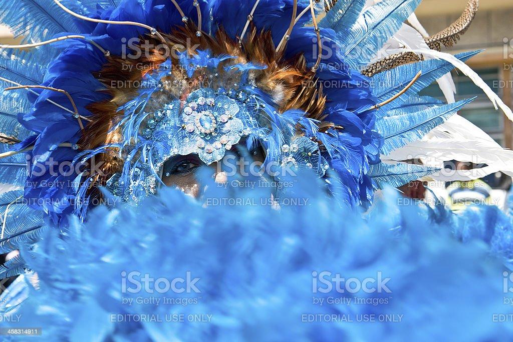 carnival tuesday blue mystery stock photo