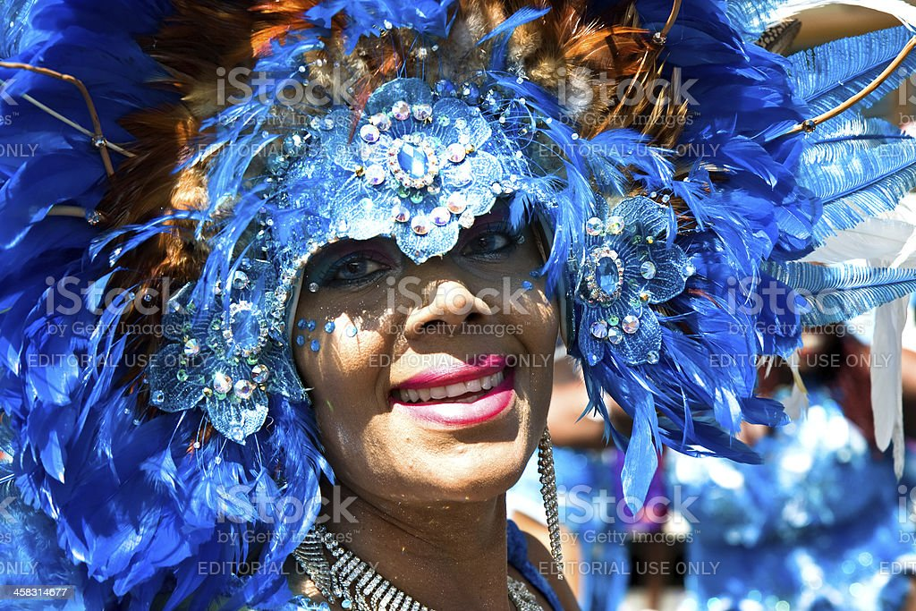 carnival tuesday blue stock photo
