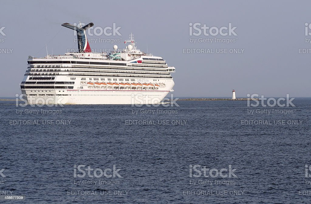 Carnival Victory Departing Halifax royalty-free stock photo