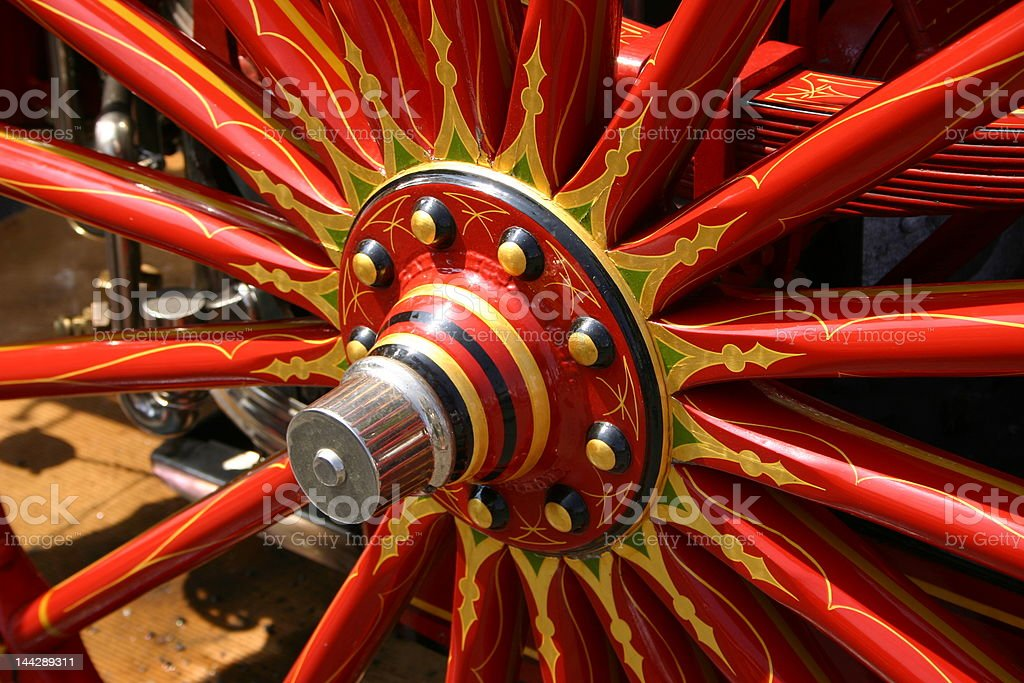 Carnival Wagon Wheel stock photo