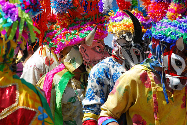 Carnival with masks in Mexico Carnival in Tio Diego, Veracruz Mexico veracruz stock pictures, royalty-free photos & images