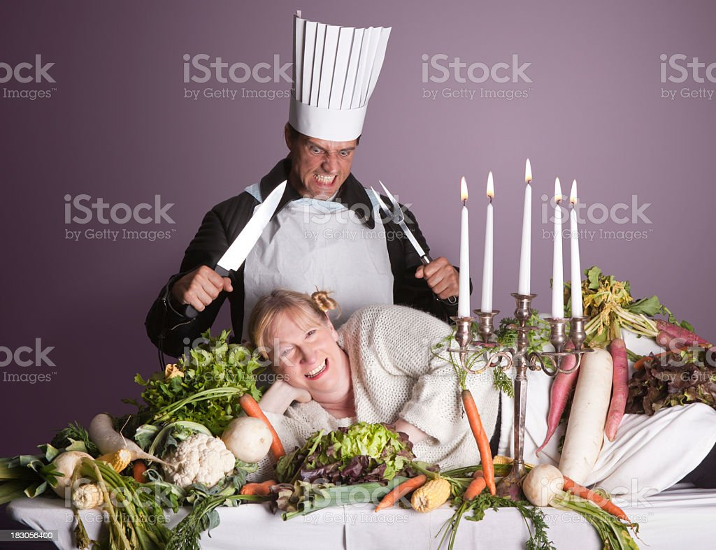 Carnivore or Vegeterian stock photo
