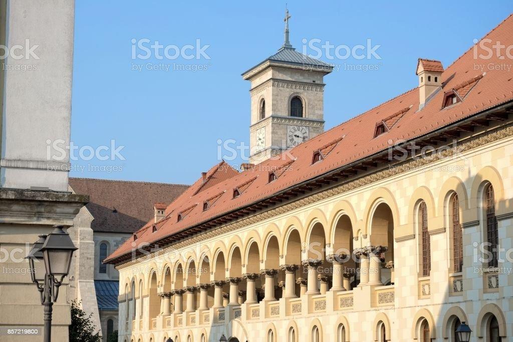 Carolina Citadel of Alba Iulia in Romania stock photo
