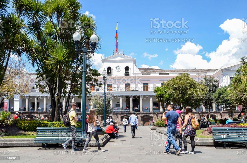 Palacio de Carondelet es la sede del gobierno de la República del Ecuador, ubicado en Quito - foto de stock