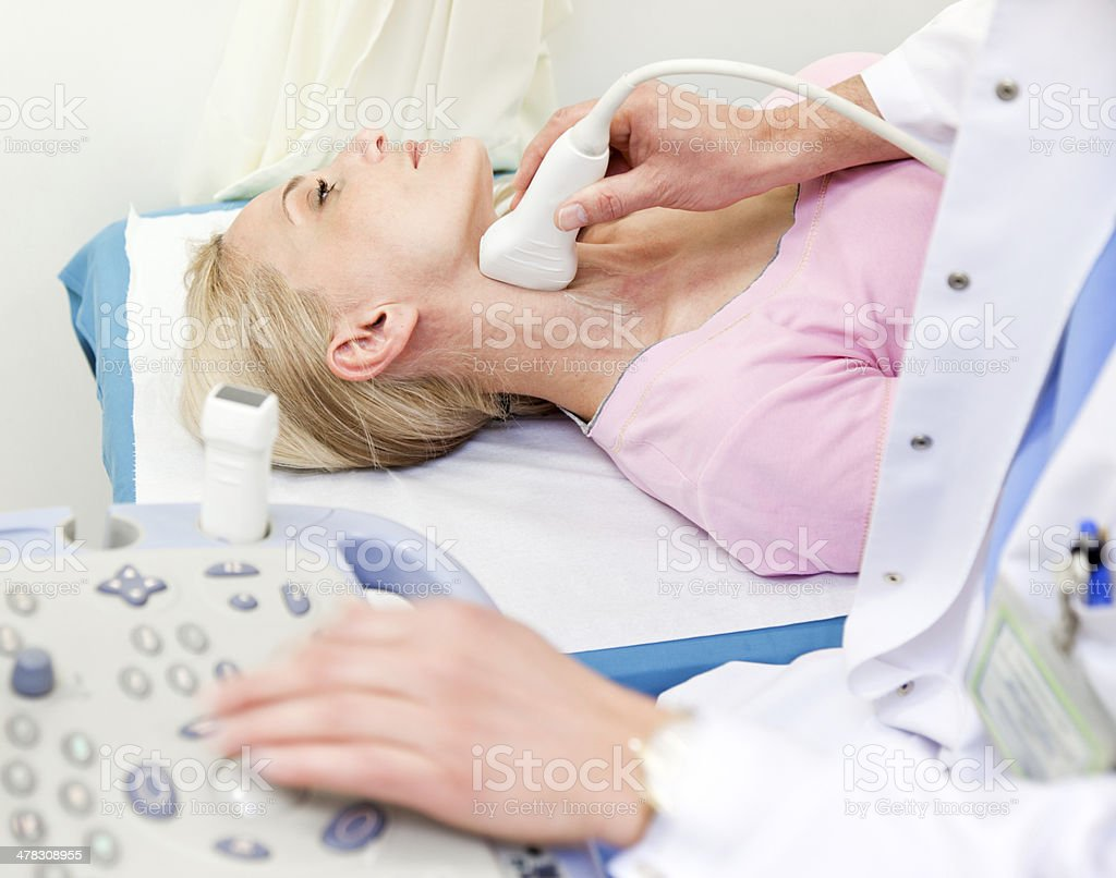 carotid Doppler ultrasound test stock photo