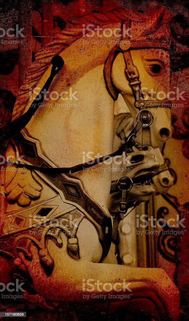 carousel grunge royalty-free stock photo