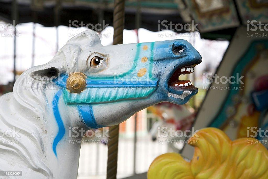 Carousel Horse Head royalty-free stock photo