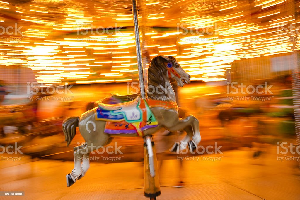 carousel horse panning royalty-free stock photo