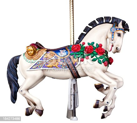 Carousel horse with clipping path. Plus an extra pair of legs, easy to photoshop out if you're not into six legged horses.