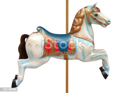 A classic carousel horse. Clipping path included.For other circus related items click on links below:
