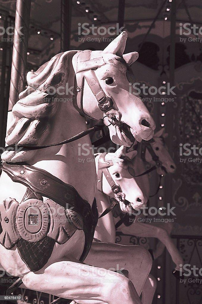 Karussellpferd in Paris Lizenzfreies stock-foto